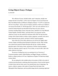 Living Objects Essays: Prologue