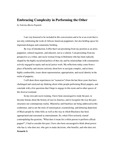Embracing Complexity in Performing the Other by Valeska Maria Populoh