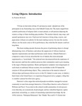 Living Objects: Introduction by Paulette Richards